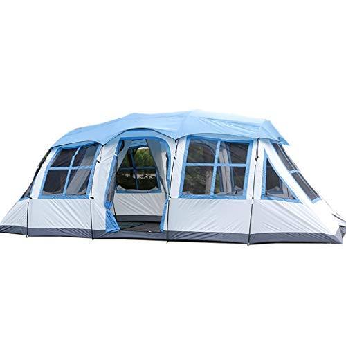 LKK-KK Doble Capa Impermeable al Aire Libre de protección Solar 6-8 Personas acampando Túnel de Picnic Tienda de la Familia Carpa Carpa Mochila (Color : Green)