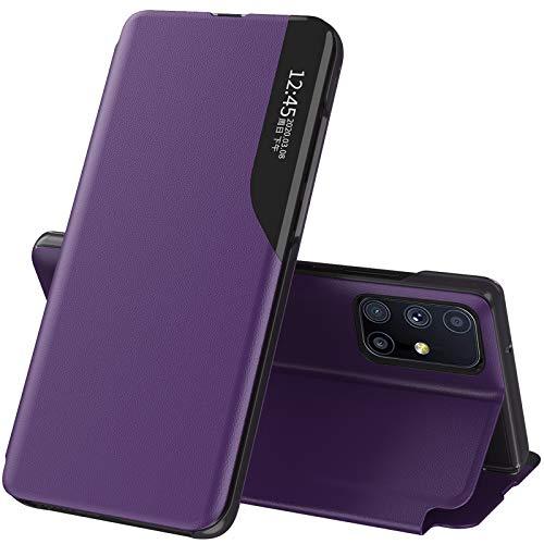 Handyhülle für Samsung Galaxy M31S Hülle Leder 360 Grad Schutz Flip Hülle Original Silikon Bumper Galaxy M31S Schutzhülle Magnet Ständer Klapphülle Stoßfest Lederhülle für Samsung M31S Tasche
