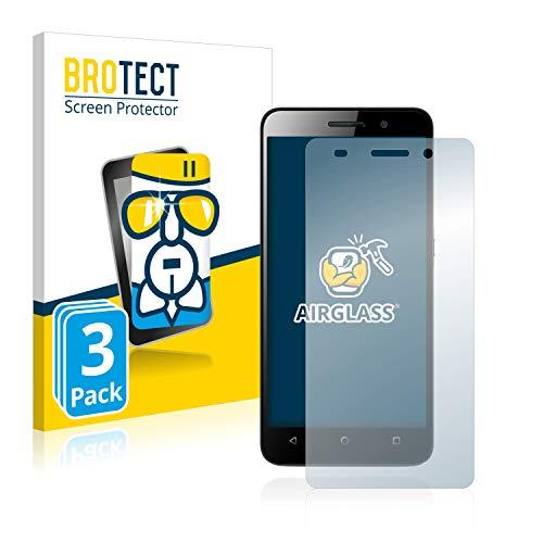 brotect Pellicola Protettiva Vetro Compatibile con Huawei G Play Mini (3 Pezzi) Schermo Protezione, Estrema Durezza 9H, Anti-Impronte, AirGlass
