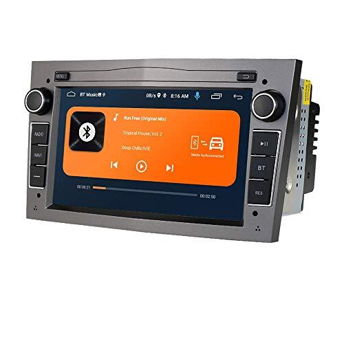 JALAL Android 10 Car Radio Estéreo con Pantalla táctil capacitiva de 7 Pulgadas para Opel, 2 DIN Navegación GPS Soporte Conexión USB Control de Rueda Cámara retrovisora Dab + TPMS Bluetooth (Gris)