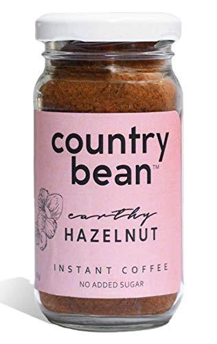 Country Bean Instant Coffee Powder | Hazelnut Flavoured Coffee 60 G