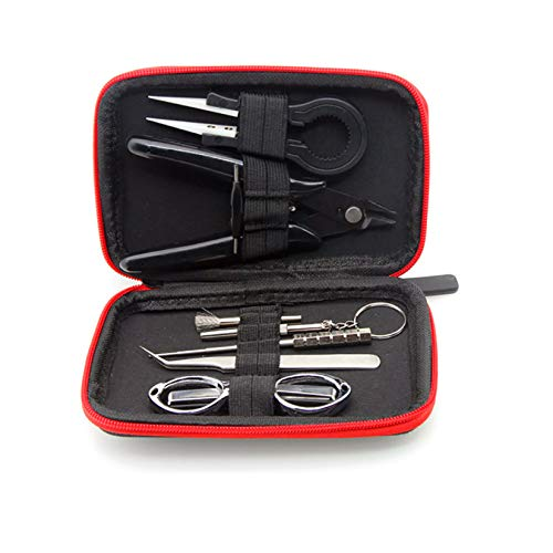 LIUCM 8 Pcs Diy Tool Kit Coil Jig Winding Set Tweezers Coil Set Wire Cutter Folding Scissors Coil Brush Screwdrivers 1.5 To 3.5 Mm
