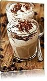 Leckerer Cappuccino mit Schokostreusel Format: 60x40 auf
