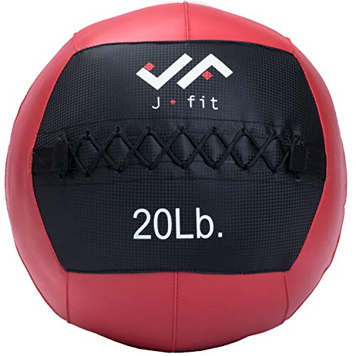 j/fit Wall Medicine Ball, Red/Black, 20 LB (20-0056)