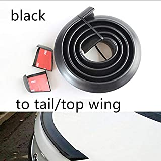 Universal Spoiler 1.5M Car-Styling 5D Carbon Rubber Tail Spoiler PU Carbon brazing DIY refit Spoiler Modified Tail Wing Suitable by All Type of car (Widen 5cm Carbon Fiber)