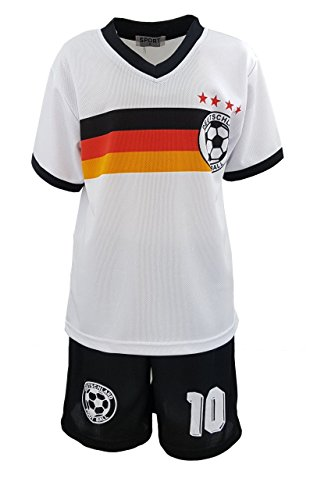 Fashion Boy Fussball Fan Set Deutschland Germany Trikot + Shorts, Gr. 128/134, JS78.10