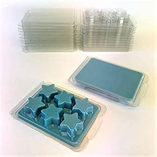 Pentacle Shape Wax Melt Molds - 100 Packs Clear Empty Plastic Wax Melt Clamshells for Wickless Wax Melt Candles