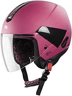Steelbird Hi-Gn SBH-5 VIC Open Face Helmet with Plain Visor (Female, Glossy Magenta, M)
