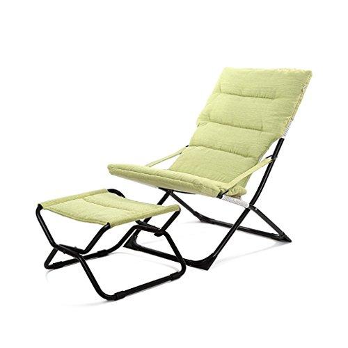 Bains de soleil Pliante chaise inclinable pliable Portable Camping Garden Chambre plage, vert, portant 150 kg
