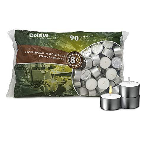 90 Bolsius Long Burn 8 Hour Tea Lights Professional Tealights Candles