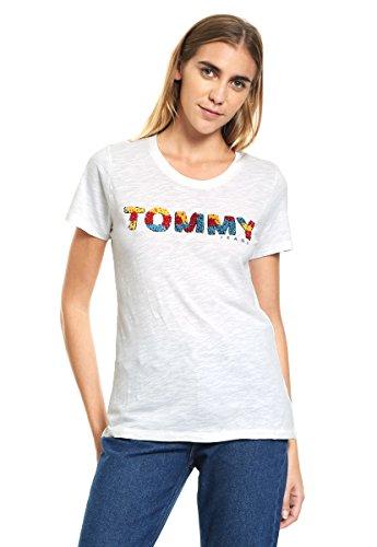 Tommy Jeans TJW CN T-shirt dames - wit