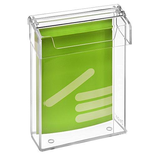 DIN A5 Prospektbox/Prospekthalter/Flyerhalter im Hochformat, wetterfest, für Außen, mit Deckel, aus glasklarem Acrylglas - Zeigis®