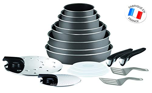 Tefal L2049002 Ingenio 5 Essential Lot de 17 Pices Gris...