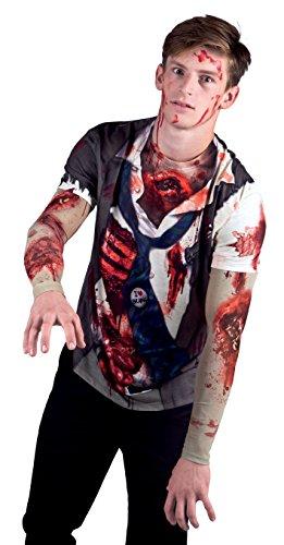 Boland Herren 84307 - Fotorealistisches Shirt Zombie , Mehrfarbig , L