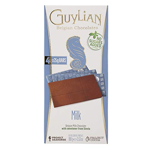 Guylian No Added Sugar Milk Belgian Chocolate 100g