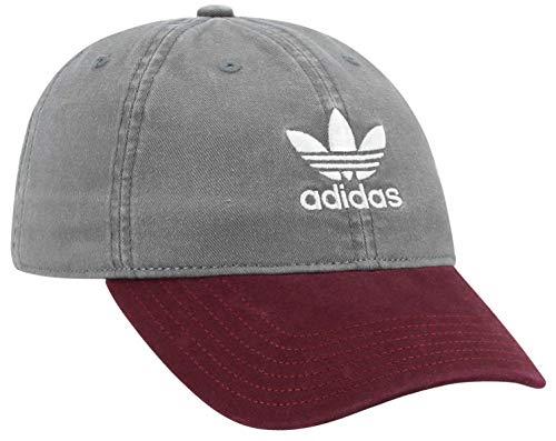 adidas Originals Women's Relaxed Adjustable Strapback Cap, Grey/Burgundy, One Size