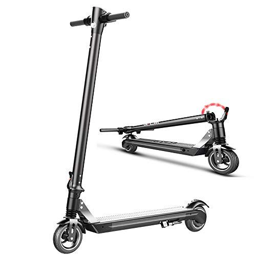 ZJING Scooter electrico-Patinete electrico Adulto, Ajustable la Altura, 25km/h, 6