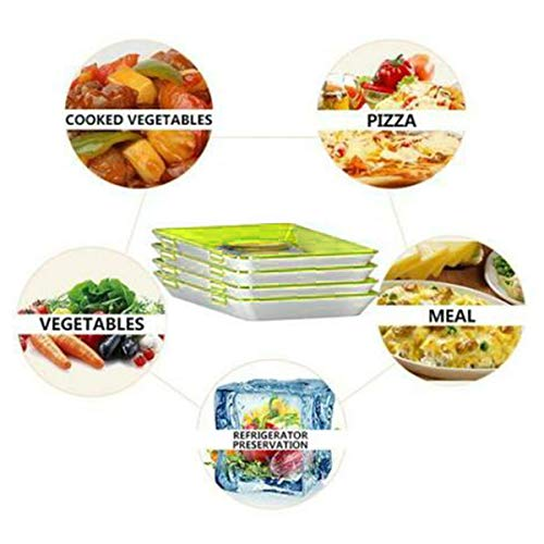 1/2/4Pcs Healthy Food Preservation Tray, Food Plastic Preservation Tray, Storage Container Set Kitchen Tools