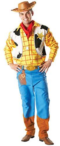 Herren 4 Stück Deluxe Disney Woody Toy Story Cowboy Halloween Kostüm Kleid Outfit STD XL - Multi, Multi, XL