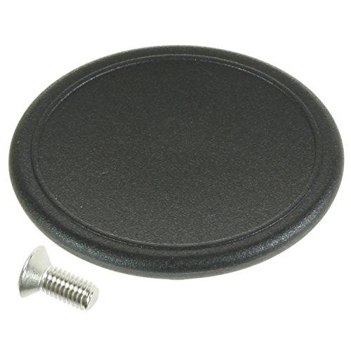 Spares2go Universal 5.5cm Large Handle Lid Knob For Slow Cooker Saucepan Casserole Dish (Black)