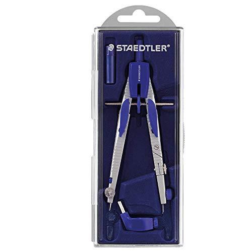STAEDTLER compasso professionale leggero e regolabile, dotato di adattatore universale e mine di ricambio, ideale per il disegno tecnico, 553 01