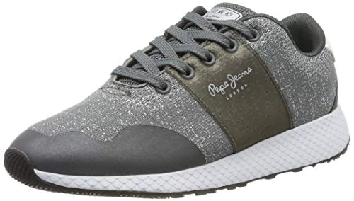 Pepe Jeans London Damen KOKO Sandy Sneaker, Grau (Smoke 926), 39 EU