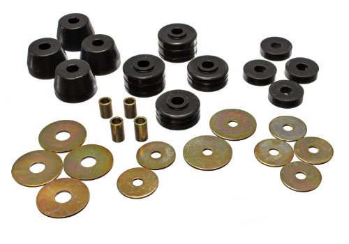 Energy Suspension Body Cab Mount Set Black For 1971-1989 Dodge Pickup