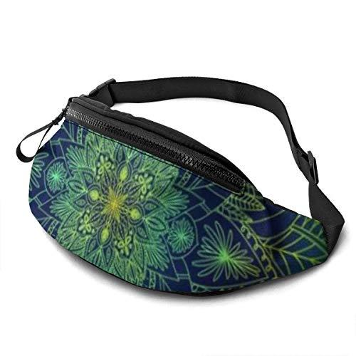 Unisex Bauchtasche mit Mandala-Druck, Bauchtasche mit verstellbarem Gürtel für Laufen, Sport, Klettern, Reisen