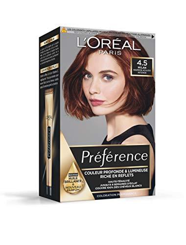 L'Oréal Paris Préférence Coloration Permanente Cheveux, Nuance : Milan (4.5), Marron Acajou Intense