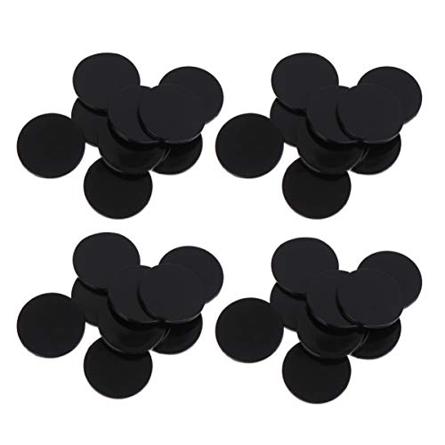 EXCEART 100 Stück Plastikzählchips Plastik Lernrunde Zähler Bingo Chip Disks Marker Mini Poker Chips für Mathe Übungsspiel Token (Schwarz)