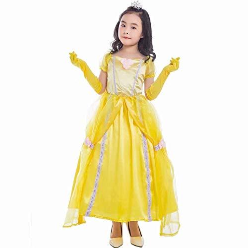ZSM Kinder Trajes Lindos Da Escenario de Funcionamiento Princesa Faldas Vestido de los Trajes Festivos Chicas Viste a Santos Cosplay Equipo de los nios YMIK (Size : XL)