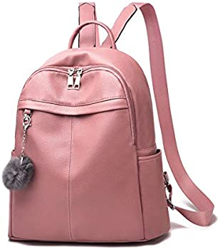 Barsine Women Purse Vegan Leather Zipper Pockets Fashion Backpack