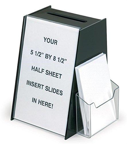 Displays2go Acrylic Ballot Box with 5.5