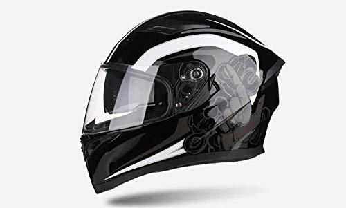 Off-road outdoor motorfiets elektrische helm rijden sporthelm beschermende fietshelm-Bai Qili_XXL