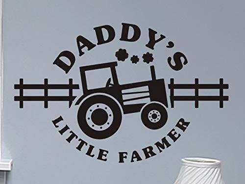 Jongens Slaapkamer Muursticker Papa's Kleine Boer met Tractor Jongens Bed Room Muursticker Kwekerij Vinyl Lettering Verwijderbare Wanddecoratie Speelkamer 6