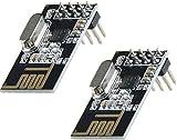 2pcs NRF24L01 2.4GHz Wireless Transceiver Module For Microcontroller   2pcs NRF24L01 de 2.4GHz Módulo Wireless