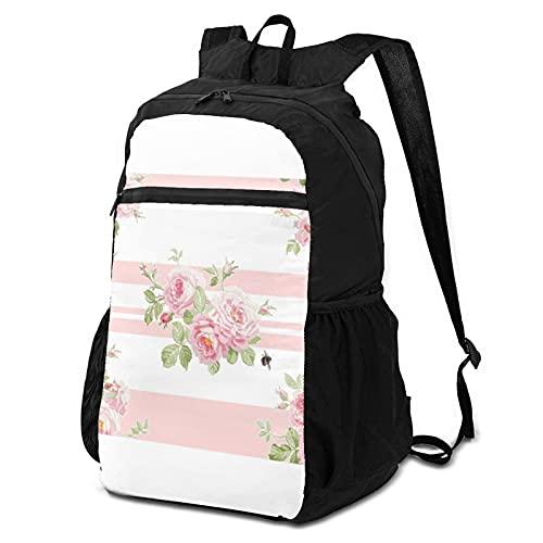 Zaino per la scuola, zaino per computer portatile, ideale per il giorno di maggio, estate, rose, peonie, stile casual, zainetti da viaggio, zaino da viaggio, escursionismo, scuola