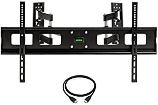 "InstallerParts 37""-65"" TV Corner Mount – Swivel/Tilt – 20"" Dual Extension Arm – Heavy Duty LCD LED TV Monitor Flat Panel S..."