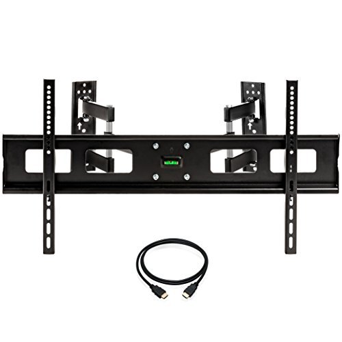 InstallerParts 37'-65' TV Corner Mount Swivel/Tilt 20' Dual Extension Arm Heavy Duty LCD LED TV Monitor Flat Panel Screen, HDMI Cable
