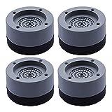 Gobesty Schwingungsdämpfer, 4 Stück Waschmaschine Vibrationsdämpfer Antivibrationsmatte Anti-Vibrations Gummimatten Waschmaschine Füße Pad Fußpolster für Waschmaschine Trockner, 4cm