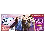 Ziploc Storage Slider Bags, Quart, 30 Count, Featuring Mickey or Frozen Designs