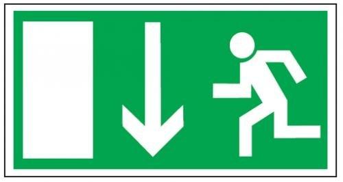 Notausgang / Rettungsweg / Rettungsschild / Fluchtweg / Rettungszeichen Kunststoff nachleuchtend 297 mm x 148 mm #6913650