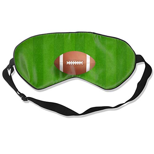 AOOEDM Sleep Mask Green Football Field Ball Sleep Eye Mask Soft Adjustable Blocks Light Blindfold for Sleeping,Travel,Naps,Meditation
