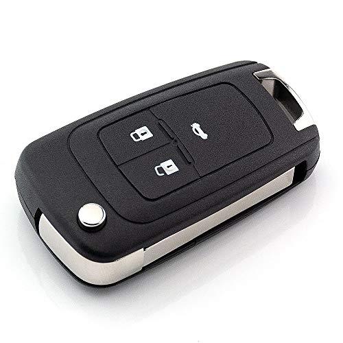 3 Tasten Ersatz Klappschlüssel Gehäuse mit Rohling kompatibel mit Opel Adam Ampera Astra Cascada Corsa Insignia...