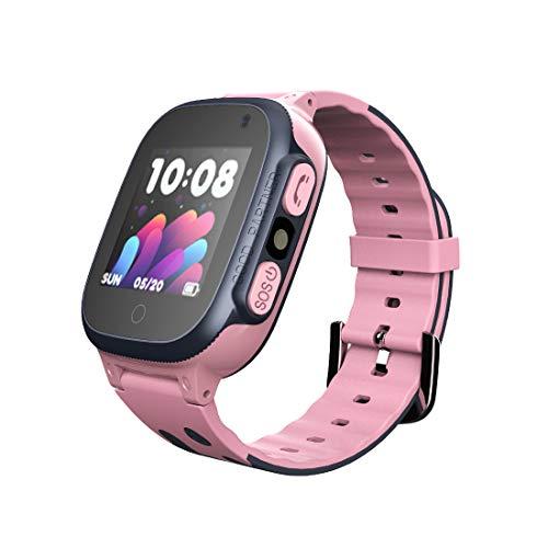 Aivtalk - Reloj Inteligente Teléfono para Niños Niñas Reloj de Pulsera Multifuncional AGPS Cámara SOS Smartwatch Pantalla Táctil - Rosa