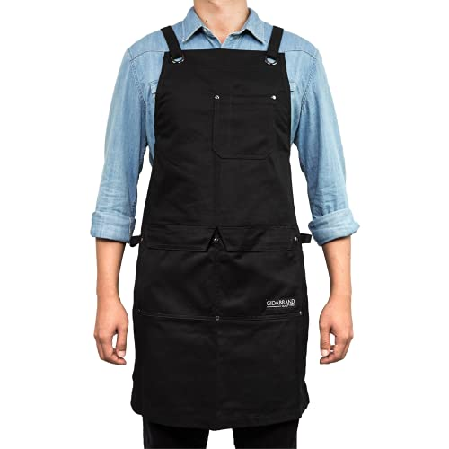 Professional Chef Apron for Men Women | Durable Cotton for BBQ Grilling and Cooking | With Pockets and Quick Release Buckle
