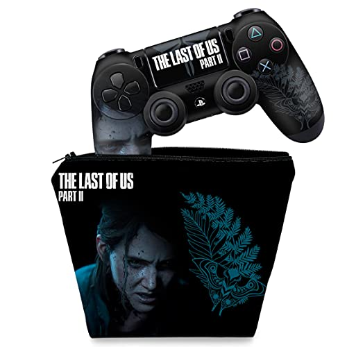 Capa Case e Skin Adesivo PS4 Controle - The Last Of Us Part 2 II B