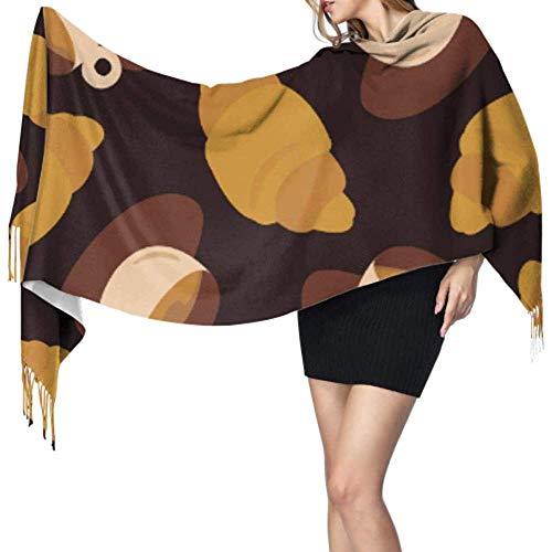 27 'x 77' een sjaal voor vrouwen Croissants lekker brood eten sjaal zomer Lady sjaal stijlvolle grote warme deken