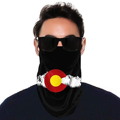 JIANYU Bufanda Multifuncional Bandera de Colorado Variedad Toalla Facial Reutilizable Deportes Cuello Polaina Bufanda Bufanda Facial Negro