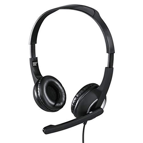 Preisvergleich Produktbild Hama PC Headset mit Mikrofon (ultra leichte Kopfhörer,  On-Ear Ohrhörer,  gepolsterte Ohrmuscheln,  Stereo,  Computer-Kopfhörer mit Lautstärkeregler am Kabel,  2 m Kabellänge,  3, 5 mm Klinke) schwarz